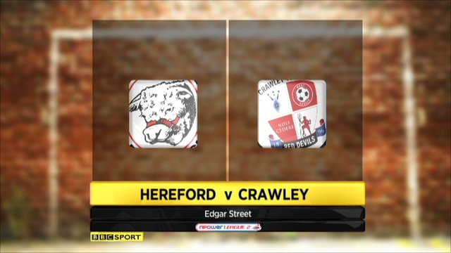 Hereford 1 - 1 Crawley Town