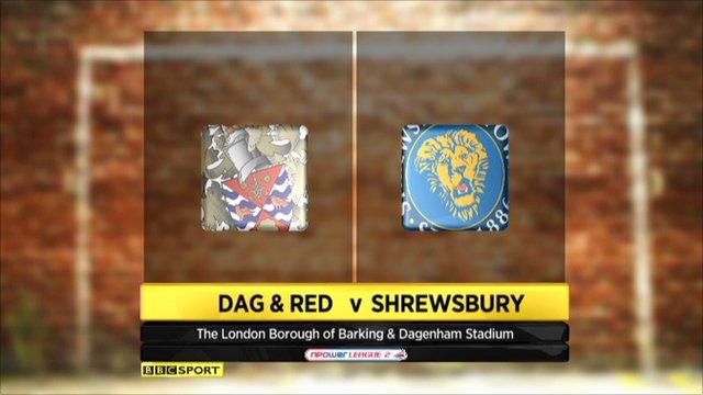 Dag and Red 0-2 Shrewsbury