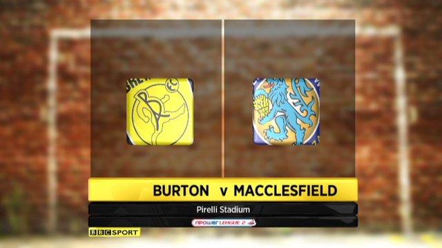 Burton Albion 1-0 Macclesfield