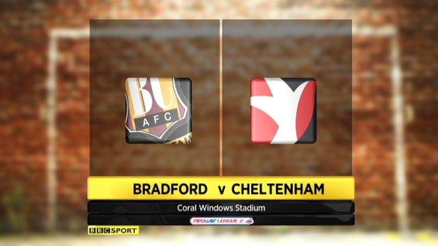 Bradford 0-1 Cheltenham