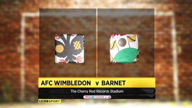 AFC Wimbledon 1-1 Barnet