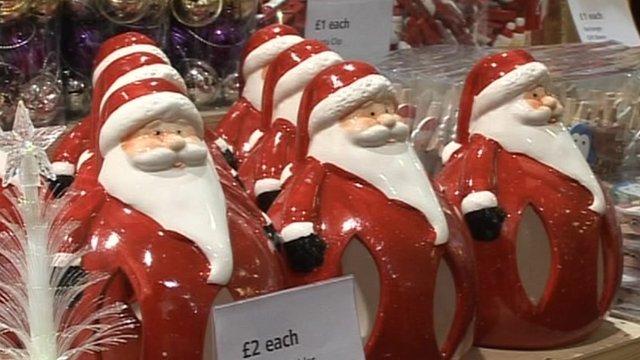 Ceramic Santa Claus figurines