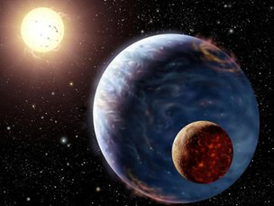Artists impression of planet HD83443