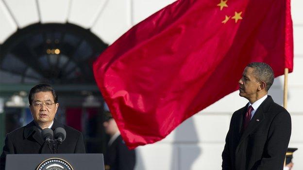Chinese premier Hu Jintao and US president Barack Obama