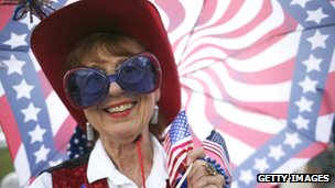 American woman dressed up for Independence Day