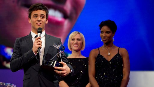 Tom Daley wins the 2010 Young Sports Personality of the Year