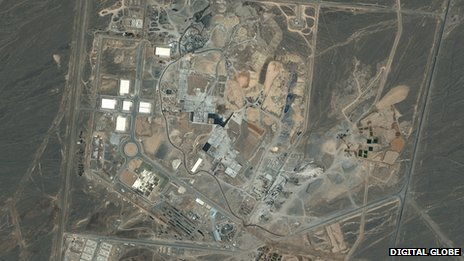 Natanz nuclear facility in Iran 08/06/2003