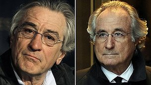Robert De Niro and Bernie Madoff (right)