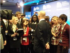 William Hague speaking to members of the youth forum