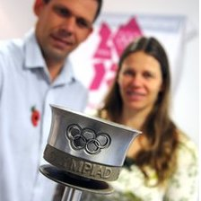 The 1948 torch with Mark & Sarah Henton