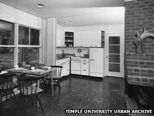 Kitchen of Levittown home