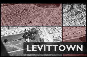 Aerial view of Levittown, Pennsylvania