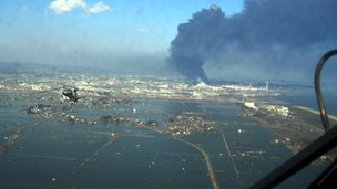 Sendai harbour after Tohoku quake US Navy
