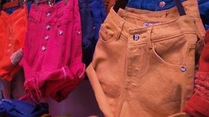 Hot pants on display