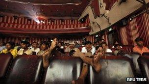 Bollywood audience in Mumbai cinema hall