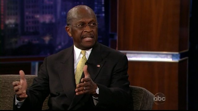 Herman Cain on ABC's Jimmy Kimmel live