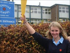 Abby, 13, from Sackville School in East Grinstead is hoping to be carrying the genuine Olympic torch next year