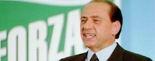 Silvio Berlusconi addressing a Forza Italia rally in 1994