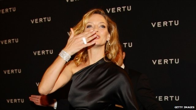 Uma Thurman at Vertu launch event