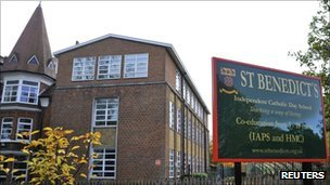 St Benedict's school in Ealing