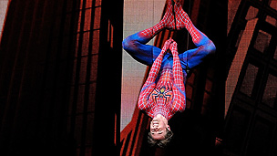 Production image from the Spider-Man musical