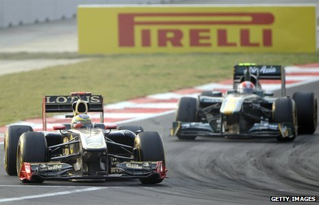 Lotus Renault and Team Lotus