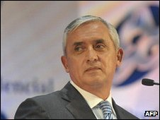 Guatemalan President-elect Otto Perez Molina