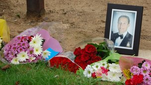 Tributes for Flt Lt Cunningham at RAF Scampton