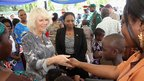 Camilla, Duchess of Cornwall meets families of Tanzanian peace keepers