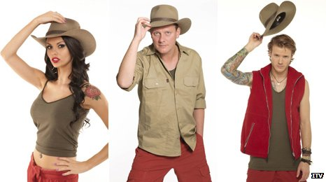 Jessica Jane Clement, Antony Cotton and Dougie Poynter