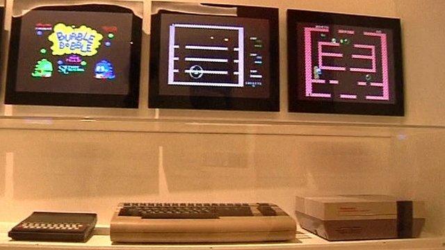 Vintage video games consoles
