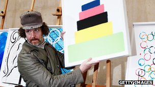 Martin Creed and his Olympic poster