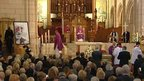 Sir Jimmy Savile's funeral service at Leeds Cathedral