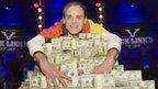 Pius Heinz of Germany poses with his World Series of Poker winnings in Las Vegas - 9 November 2011