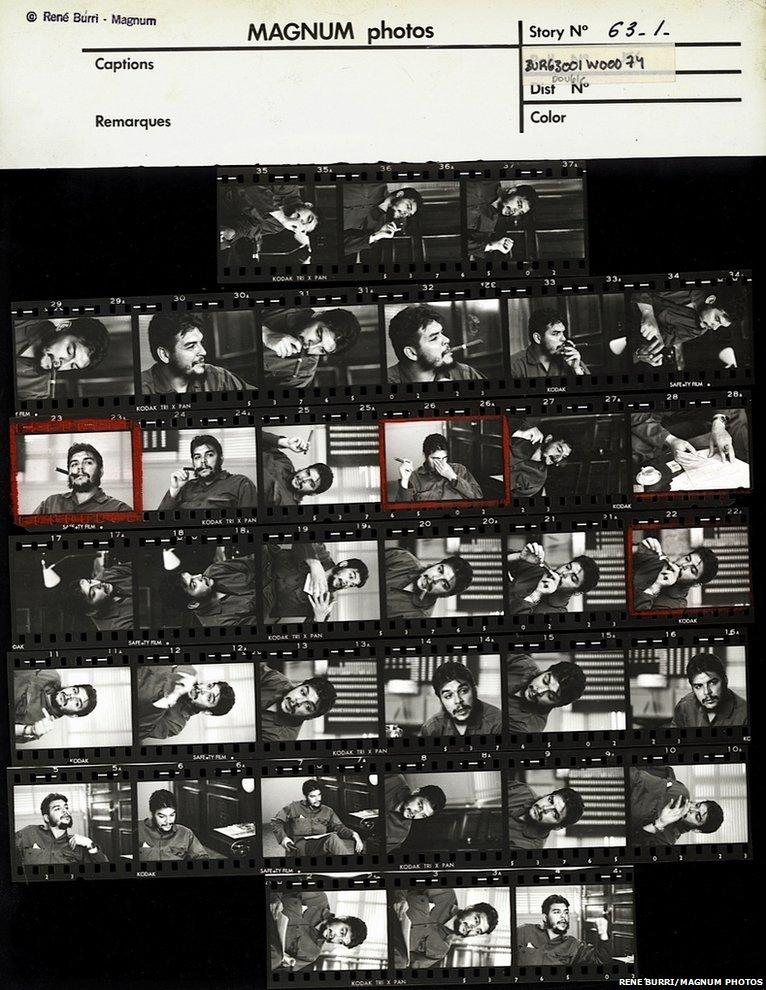 Contact sheet: Ernesto �Che� Guevara, 1963, Havana, Cuba