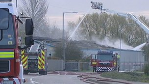 Fire at Showground Business Park