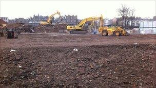 Gap site in Fountainbridge Pic: Mike Easton