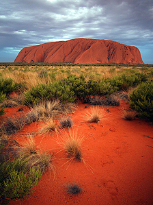 Australia&#039;s rock outcrop Uluru 
