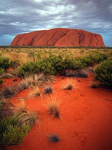 Australia's rock outcrop Uluru