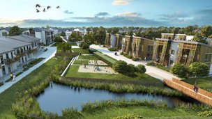 Artist's impression of Hanham Hall development