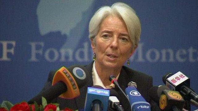 Christian Lagarde, the head of the International Monetary Fund (IMF),