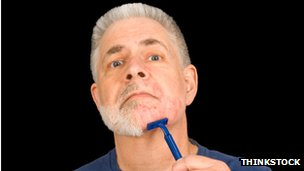 Man shaving generic