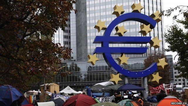 European Central Bank sculpture