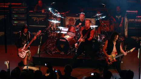 Metallica on stage