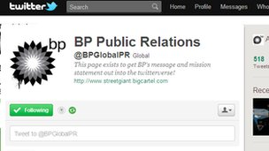 A screenshot of @BPGlobalPR on Twitter