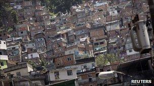 View of Rocinha shantytown in Rio