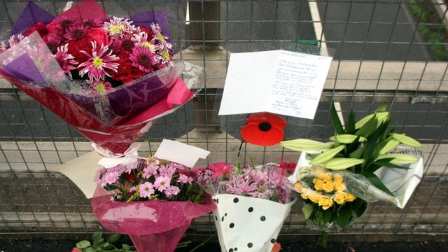 Flowers at crash site