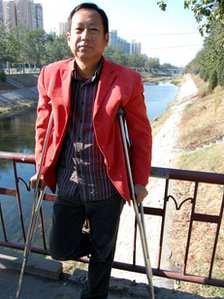 Activist Liu Li was beaten up in Chen Guangcheng's village