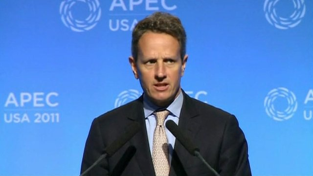 The US Treasury Secretary Timothy Geithner
