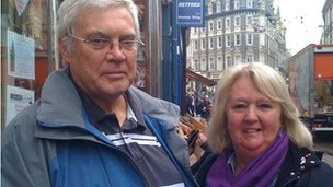 Ray and Linda Titshall, from Newport.